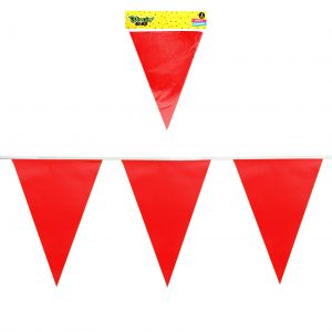 Guirnalda 10 Banderines Rojos