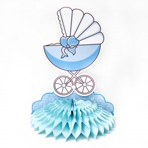 Centro De Mesa Baby Shower Coche Beb Ni o