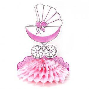 Centro De Mesa Baby Shower Coche Beb Ni a
