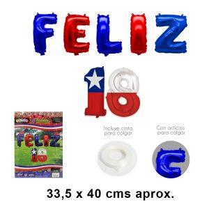 Globo Feliz 18 Letras Foil
