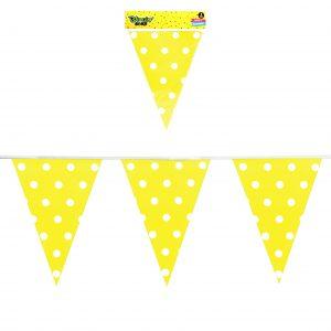 Banner Polka Dots Amarillo
