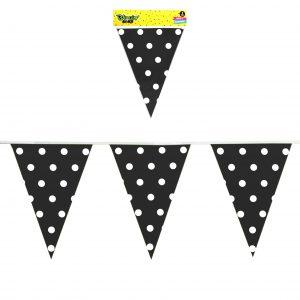 Banner Polka Dots Negro