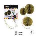 SKU 4544 Set Esferas Papel Deco Dorada $2.490