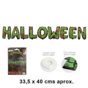 Globo letras 8220 Halloween 8221 Verde
