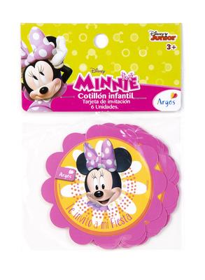 Tarjeta Invitacion Minnie Mouse