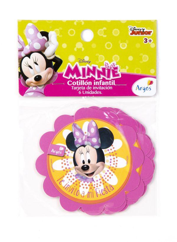 Tarjeta Invitacion Minnie Mouse X 6 U