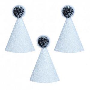 Set Minigorritos Plateados Glitter