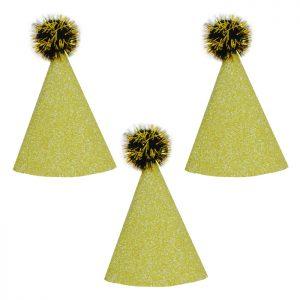 Set Minigorritos Dorados Glitter