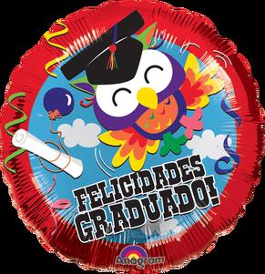 Globo Helio Felicidades Graduado