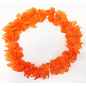 Collar Hawaiano Naranja Fl or