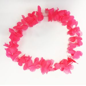 Collar Hawaiano Fucsia Fl or