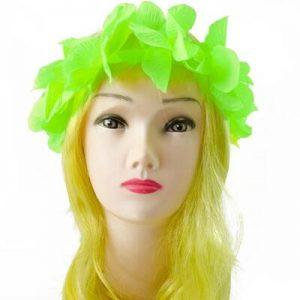 Cintillo Hawaiano Verde Fl or