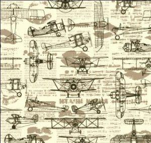 Papel De Regalo Avionetas