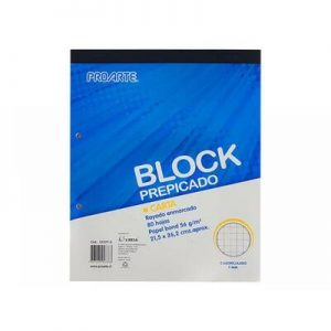 Block Cuadriculado Prepicado Carta