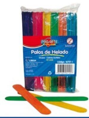 Palos Helado Colores Delgado