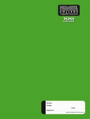 Cuaderno Liso Caligrafia Horizontal 100 Hojas