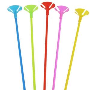 Varillas para Globos Colores Surtidos x 10 u