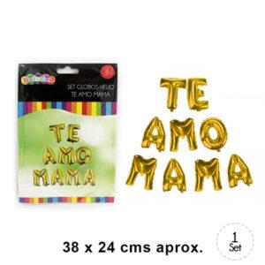 Globo Letras Doradas 8220 TE AMO MAMA 8221