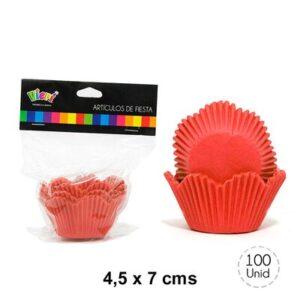 C psulas Cupcake Flor Grandes Rojas