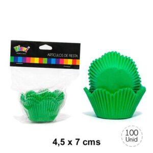 C psulas Cupcake Flor Grandes Verdes