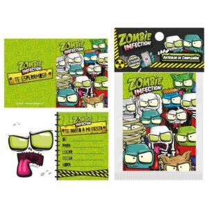 Tarjetas de Invitaci n Zombie Infection