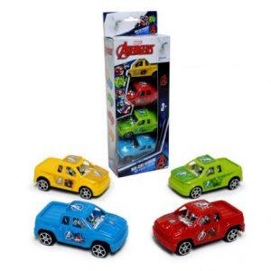 Pack 4 Autos Avengers