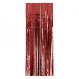 Cortina Met lica Roja