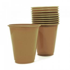 Set 10 Vasos Pl sticos 230cc Color Dorado