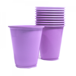 Set 10 Vasos Pl sticos 230cc Color Lila
