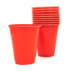 Set 10 Vasos Pl sticos 230cc Color Rojo