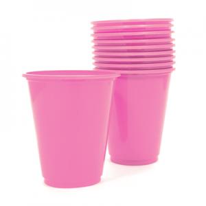 Set 10 Vasos Pl sticos 230cc Color Rosado
