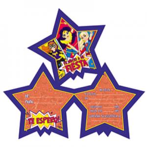 Invitaciones Super Hero Girls x 6u