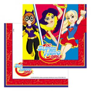 Servilletas Super Hero Girls x 12 u